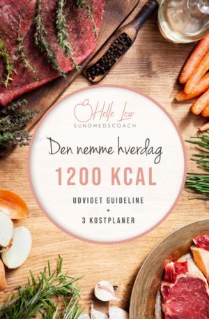1200 kcal - Den nemme hverdag kostplan af Helle Low