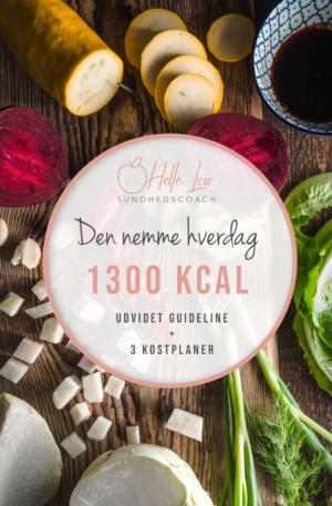 1300 kcal - Den nemme hverdag kostplan af Helle Low