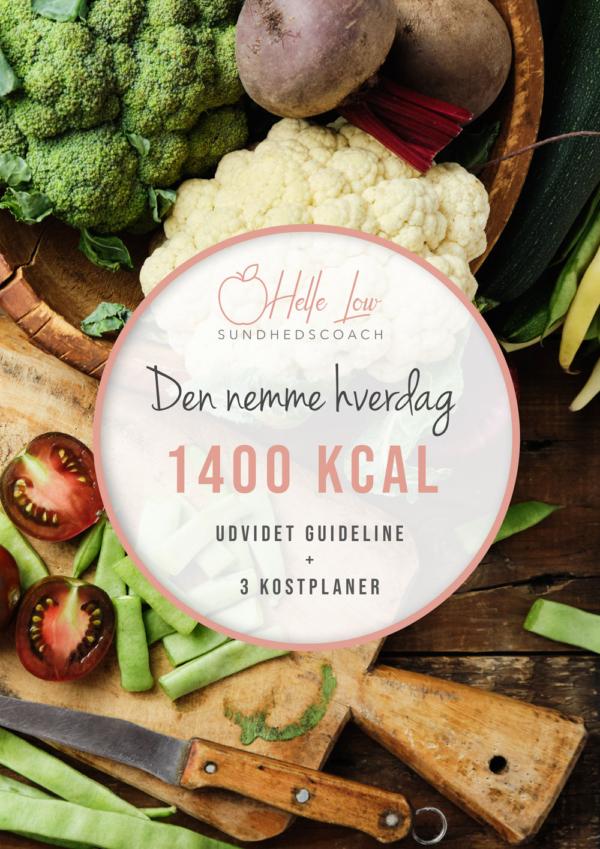 1400 kcal - Den nemme hverdag kostplan af Helle Low
