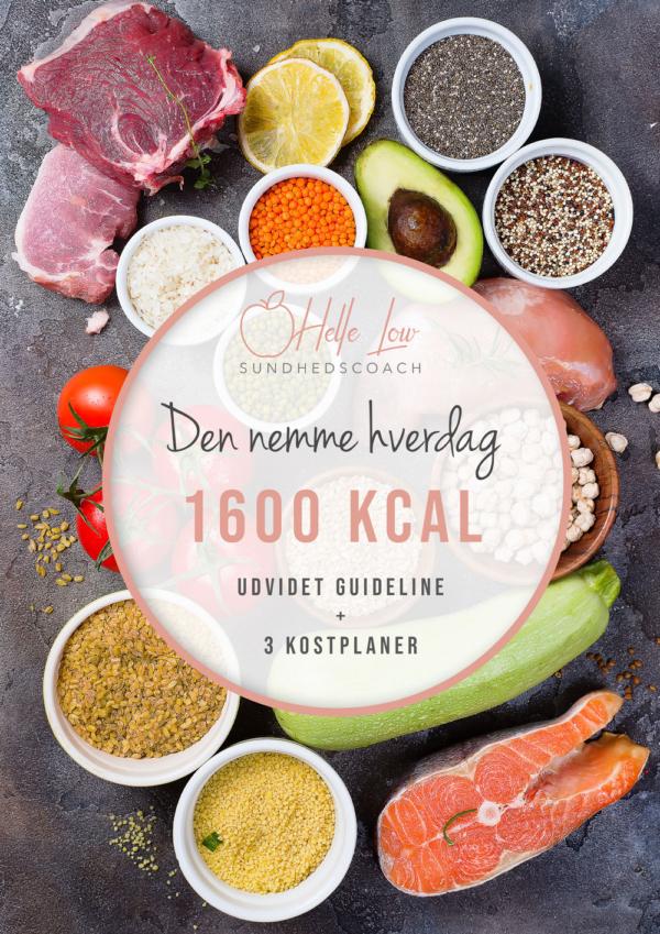1600 kcal - Den nemme hverdag kostplan af Helle Low