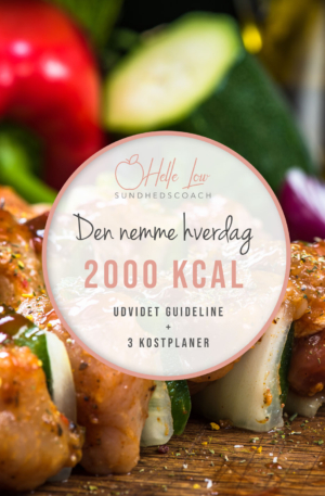 2000 kcal - Den nemme hverdag kostplan af Helle Low